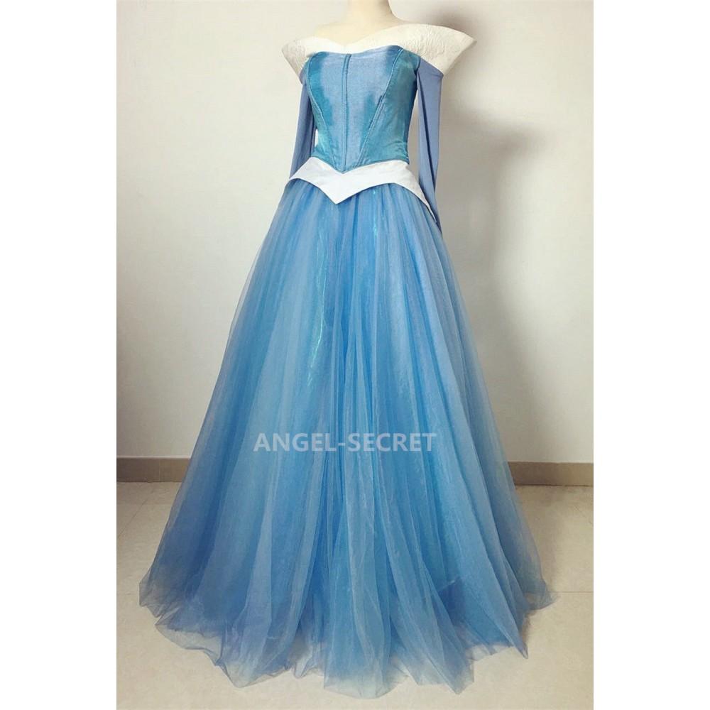 P940 COSPLAY pink blue Dress Princess sleeping beauty ...