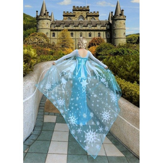 3800 Movies Frozen Snow Queen Elsa Cosplay Costume Dress tailor made kid adult