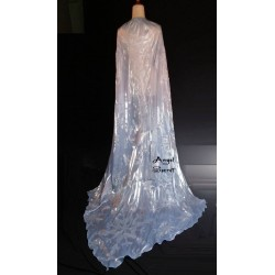 CL28 park version light blue shiny and snow pattern cape