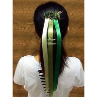 CM11  Princess ANNA CORONATION Cosplay HAIR WIG METAL CROWN Ribbons COMB