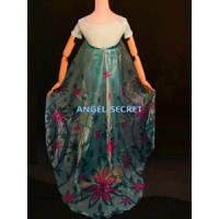 CL30 green cape 1.3 meter long frozen fever elsa