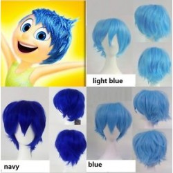 wg53 wig for inside out cosplay JOY blue short hair WOMEN ADULT