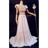 P155 Sailor Moon cosplay princess gown dress Costumes scepter wedding white
