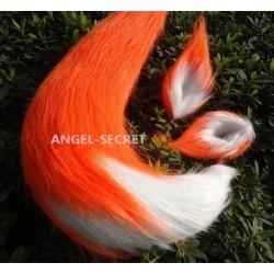 ZO2 Disney Zootopia Movie Nick Wilde FOX Plush Ear Tail Cosplay Prop handmade