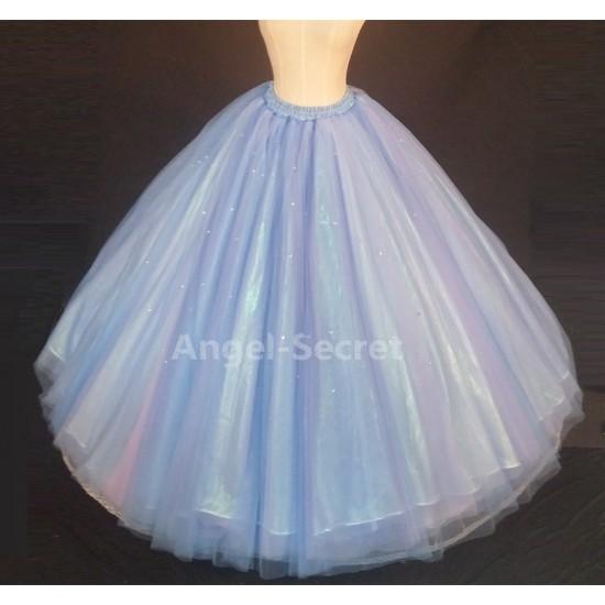 S343 cinderella gradient skirt, purple, blue, light blue