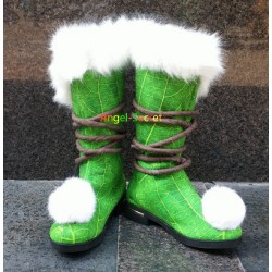 TK10 Tinkerbell furry boots shoes
