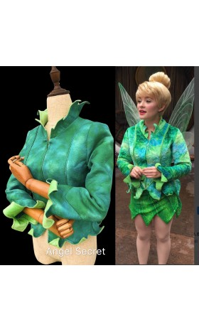 TK2 green Tinkerbell jacket with open to put the wings