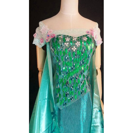 TOP10 elsa corset and sleevse only of J929 for frozen fever ,  no cape, no skirt