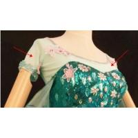 top27 FROZEN FEVER ELSA green top sleeves