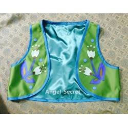 VS4 vest for J959 Anna frozen fever sunflower green vest