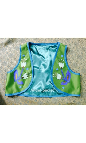 VS4 vest for J959 Anna frozen fever sunflower green vest