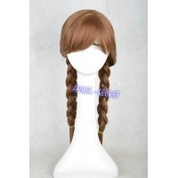 WG14 Anna Wig Cosplay Princess brown