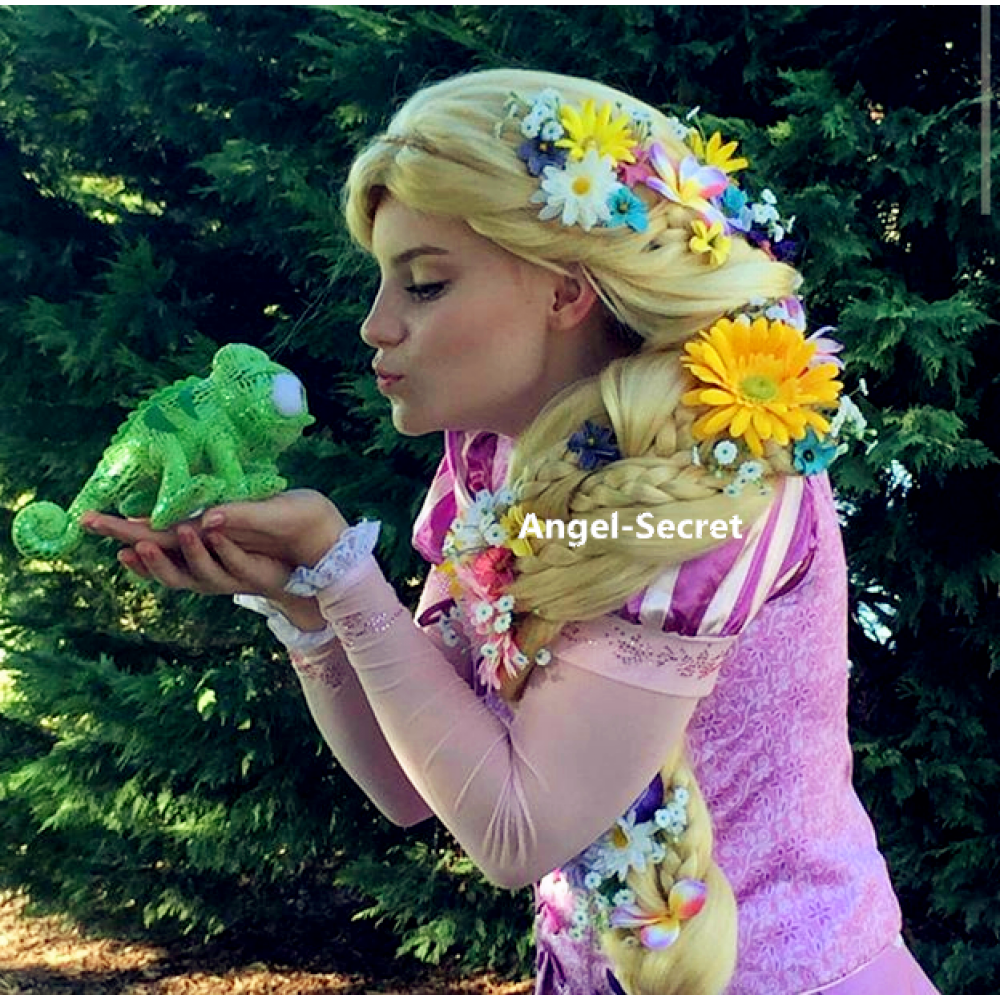 wg41 Tangled Rapunzel Cosplay Adult Costume women wig extra long extra thick  sc 1 st  angel-secret & wg41 Tangled Rapunzel Cosplay Adult Costume women wig extra ...