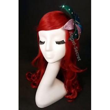 WG50 mermaid Ariel Wig Cosplay Costume (flower is not included)
