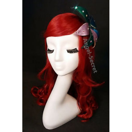 WG50 mermaid Ariel Wig Cosplay Costume (flower is not included)