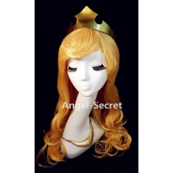 WG52 sleeping beauty wig only for Aurora princess cosplay women ,  no crown, no necklace