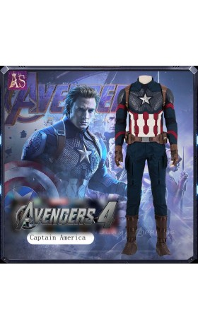 A013 Marvel Comics Avengers4 endgame captain america Steve Rogers cosplay costumes