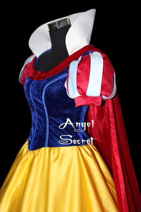 P134-COSPLAY-Dress-Princess-snow-white-Costume-tailor-made-kid-adult-GOWN-361053